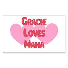Gracie Loves Nana Rectangle Decal