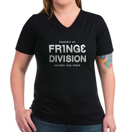 FRING3 DIVI5ION Women's V-Neck Dark T-Shirt