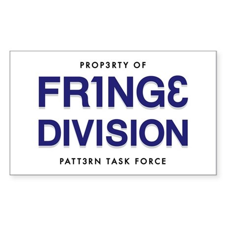 FRING3 DIVI5ION Rectangle Sticker