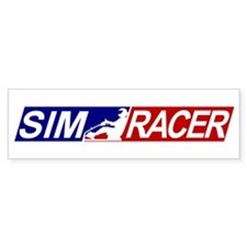 SimRacerLogo Bumper Bumper Sticker