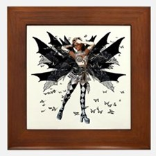 Butterfly Kisses Ebony N Ivory Framed Tile