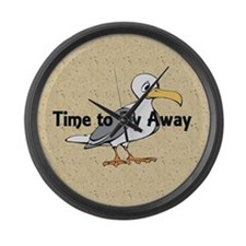 Time to Fly Away Large Wall Clock