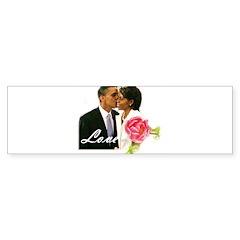 Barack & Michelle Love Bumper Bumper Sticker
