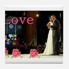 Barack & Michelle Love Tile Coaster