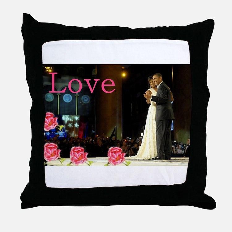 Barack & Michelle Love Throw Pillow
