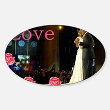 Barack & Michelle Love Oval Decal