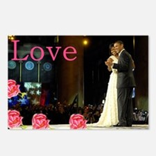 Barack & Michelle Love Postcards (Package of 8)