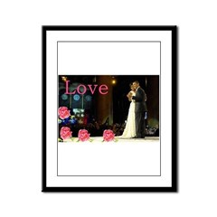 Barack & Michelle Love Framed Panel Print