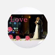 """Barack & Michelle Love 3.5"""" Button (100 p"""