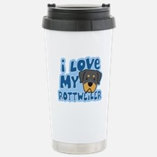 I Love my Rottweiler Travel Mug