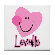 Lovable Heart Tile Coaster