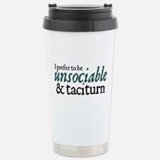 Jane Austen Unsociable Stainless Steel Travel Mug