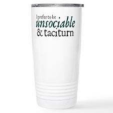 Jane Austen Unsociable Thermos Mug