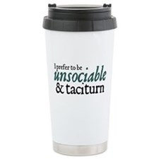 Jane Austen Unsociable Travel Coffee Mug