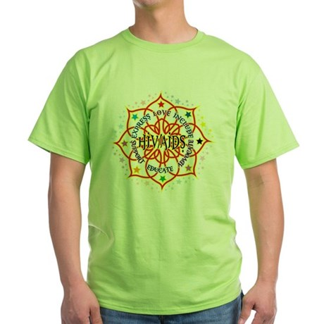 HIV/AIDS Lotus Green T-Shirt