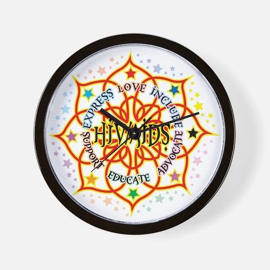 HIV/AIDS Lotus Wall Clock
