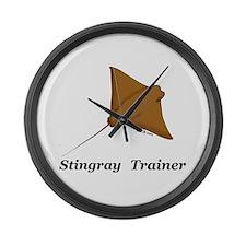 Stingray Trainer Large Wall Clock