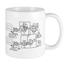 Guitar Pickup Schematic Mug