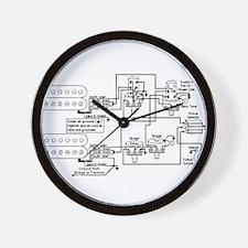 Guitar Pickup Schematic Wall Clock