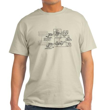 Guitar Pickup Schematic Light T-Shirt