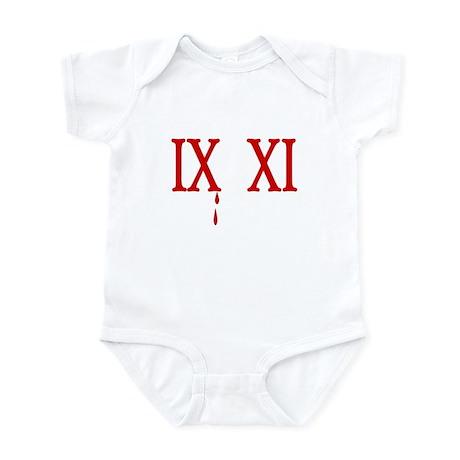 IX XI.....9 11 Infant Bodysuit