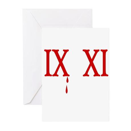 IX XI.....9 11 Greeting Cards (Pk of 20)