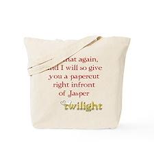 Twilight Papercut Jasper Tote Bag
