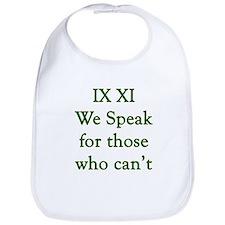 IX XI - speak Bib