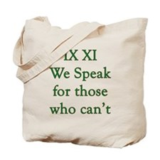 IX XI - speak Tote Bag