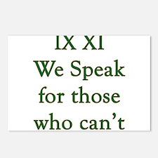 IX XI - speak Postcards (Package of 8)