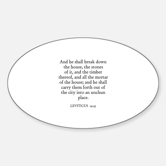 LEVITICUS 14:45 Oval Decal