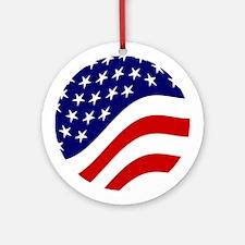 American Flag Christmas Ornament (Round)