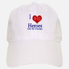 I love (heart) 9-11 Heroes Baseball Baseball Cap