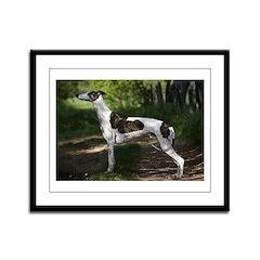 Greyhound Art Framed Panel Print