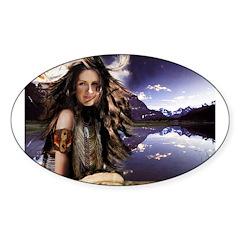 Native Winds Oval Sticker (10 pk)