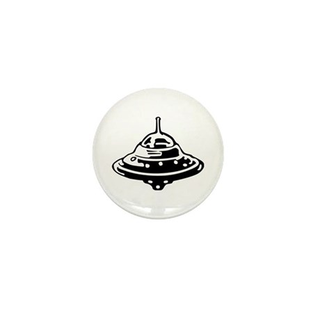 Flying Saucer Mini Button