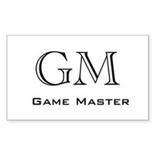 Game Master Rectangle Decal