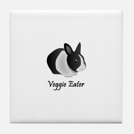 Veggie Eater Bunny Tile Coaster