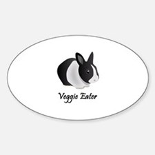 Veggie Eater Bunny Oval Decal