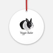 Veggie Eater Bunny Ornament (Round)