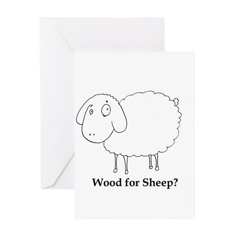 Wood for Sheep? Greeting Card