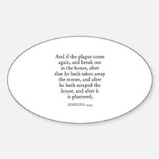 LEVITICUS 14:43 Oval Decal