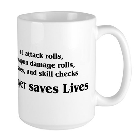 Prayer saves lives Large Mug