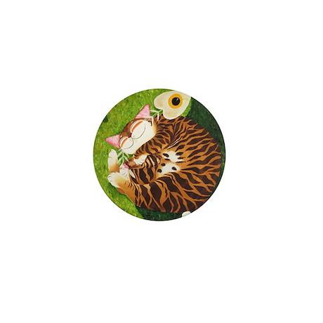 cat-art yinyang Mini Button