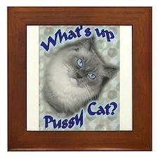 Cute Ragdoll cats Framed Tile