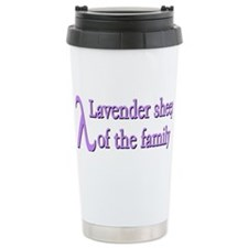 """Lavender Sheep"" Travel Mug"