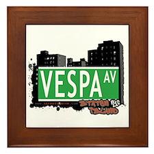 VESPA AVENUE, STATEN ISLAND, NYC Framed Tile