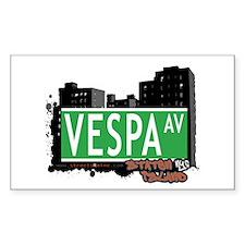 VESPA AVENUE, STATEN ISLAND, NYC Decal