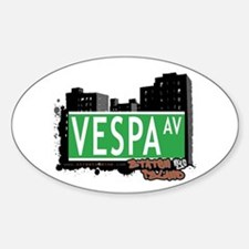 VESPA AVENUE, STATEN ISLAND, NYC Oval Decal