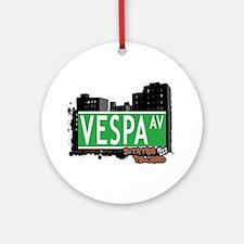 VESPA AVENUE, STATEN ISLAND, NYC Ornament (Round)